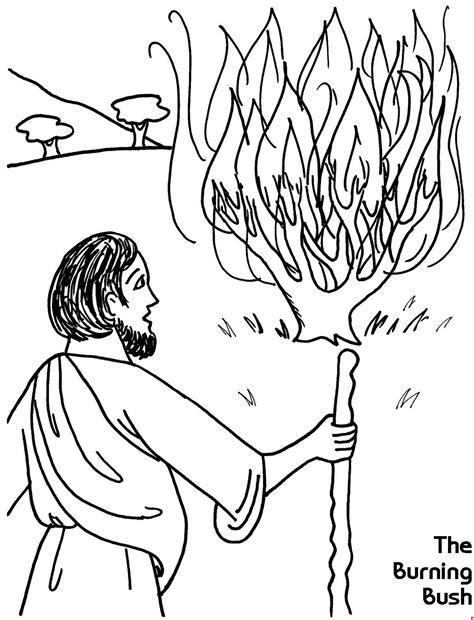 burning house coloring page the burning bush coloring sheet wesleyan kids