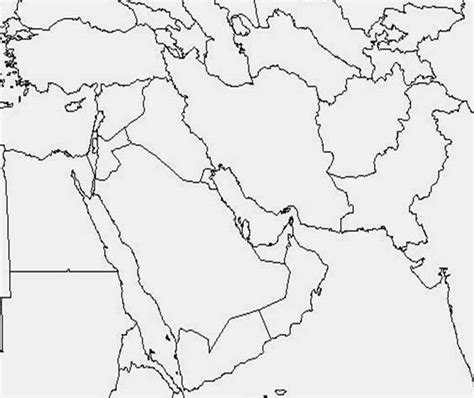 middle east map blank printable central asia blank map middle east and africa