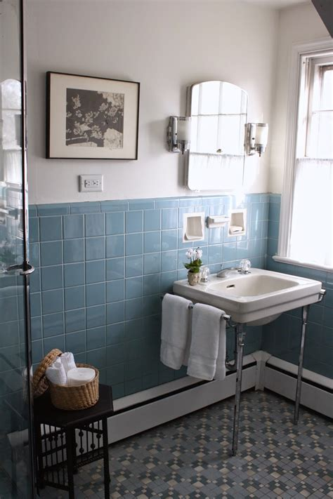 Old Bathroom Tile Ideas | 40 vintage blue bathroom tiles ideas and pictures