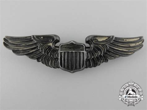 Wing Pilot Badge Us Air Usaf Emblem a second war american army air pilot badge wings badges united states america