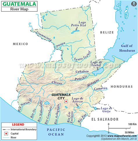 where is guatemala on the map guatemala river map
