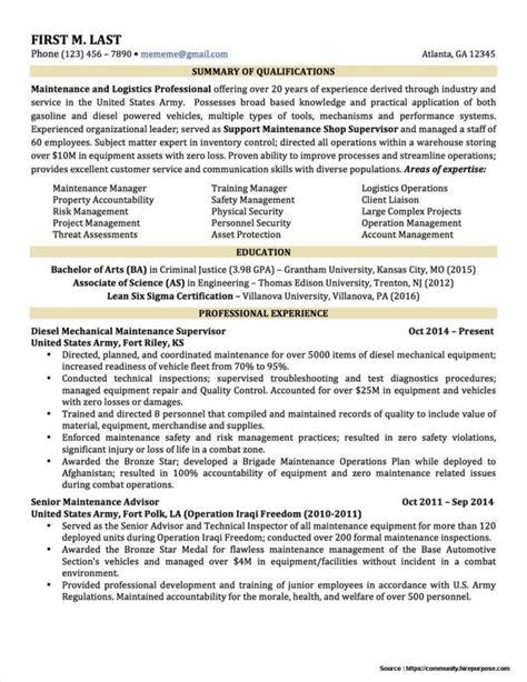 To Civilian Resume Translator by To Civilian Resume Format Resume Resume