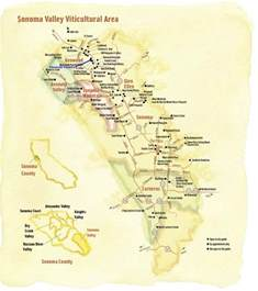 sonoma valley winery map vacation