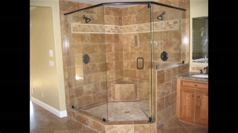Showers Without Glass Doors Shower Door With River Glass Designs Bathroom Shower Without Doors Designs Ideas