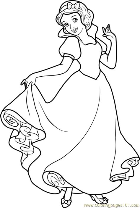 snow princess coloring pages princess snow white coloring page free disney princesses