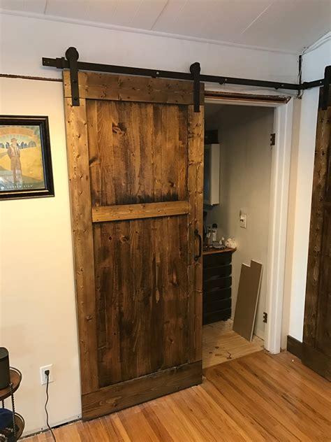 Shower Barn Door by Diy Sliding Barn Bedroom And Bathroom Doors Dave Eddy