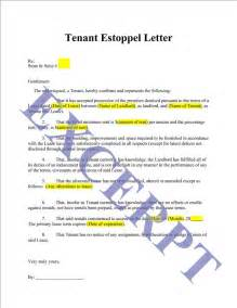 Certification Letter For Tenant tenant estoppel letter and certificate realcreforms