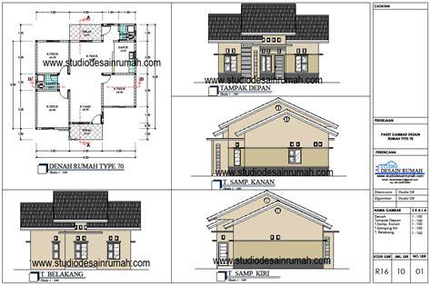 gambar rumah lengkap dengan denahnya