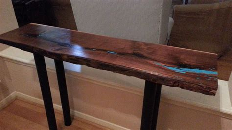 Live Edge Sofa Table Black Walnut Live Edge Console Sofa Live Edge Sofa Table