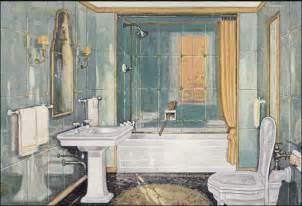 1920s Bathroom Fixtures 1926 Crane Plumbing Fixtures Sophisticated 1920s Bathroom Sea Green And Gold Scheme