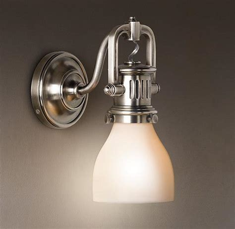 Allen Roth Bathroom Vanity Lights 1920s Factory Sconce Bath Sconces Restoration Hardware