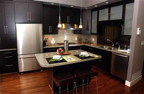 small kitchen with dark cabinets beautiful modern kitchen cabinet design idea affordable