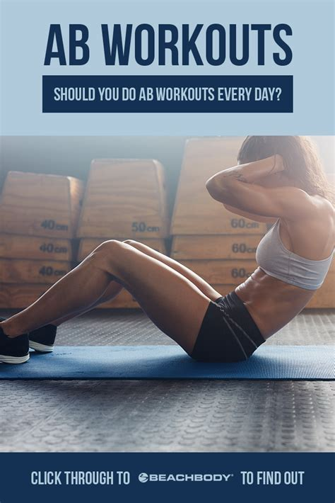 should you do ab workouts every day the beachbody