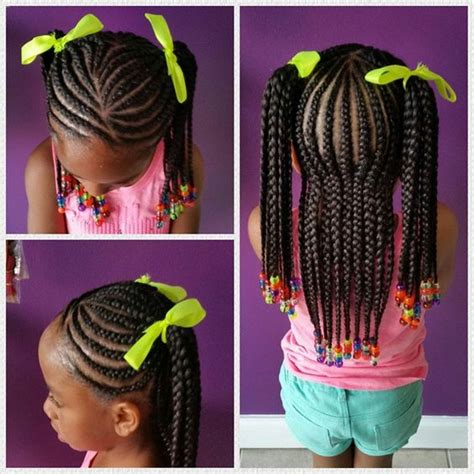 9 year old little girl hair braided witb weave 40 braids for kids 40 braid styles for girls