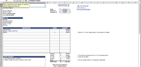 Numbers Invoice Template Free Excel Templates Numbers Invoice Template