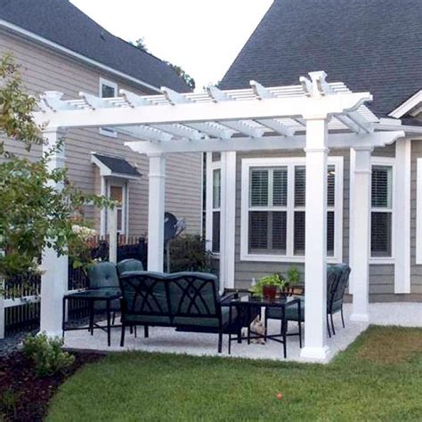 freestanding vinyl pergola with 8 quot x 8 quot posts the bradenton