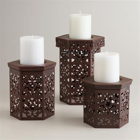 candel holder naveen pillar candle holders world market