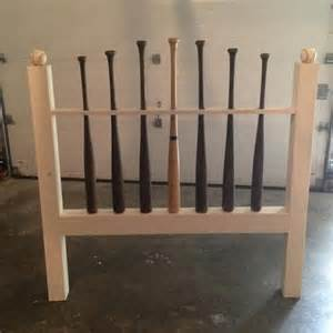 baseball bat headboard photo sports room