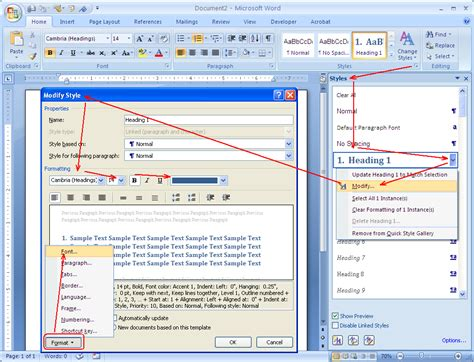 modify the footnote style word 2013 how to write headings and sub headings