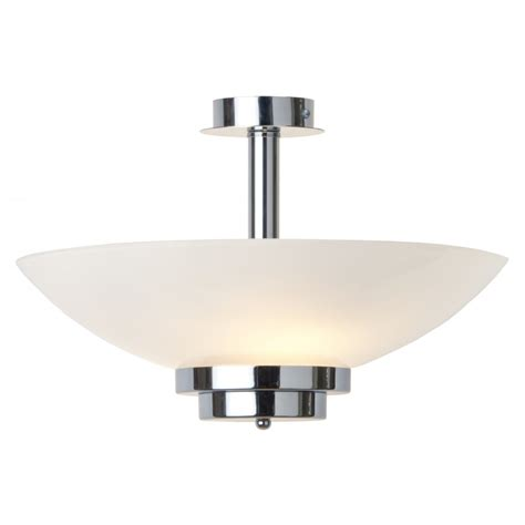 uplighter deco ceiling light opal glass shade on