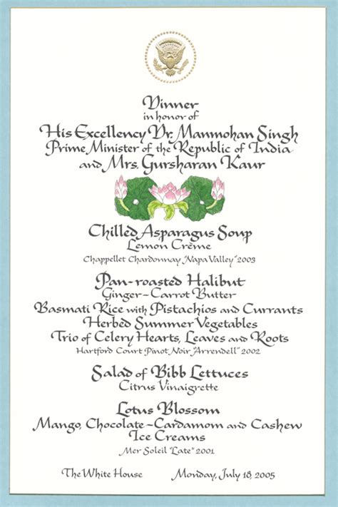 Dining & Diplomacy   The George W. Bush Presidential