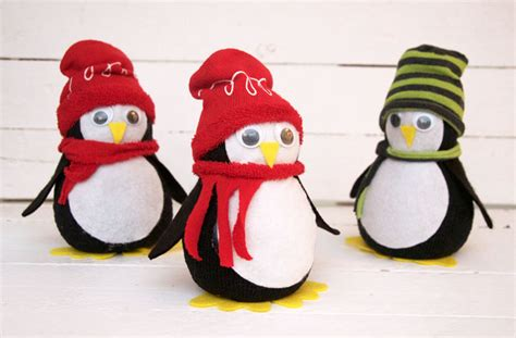 sock crafts penguin no sew tutorial miss patterns