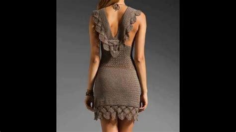 vestidos de tejido vestidos de dama tejidos youtube