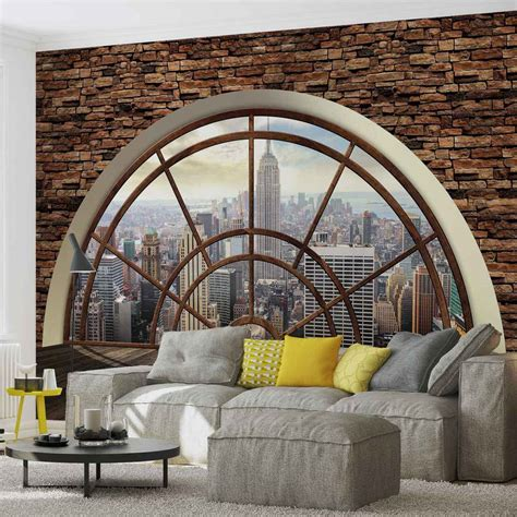 new york wall mural wall mural new york city skyline window photo wallpaper 2397dc ebay