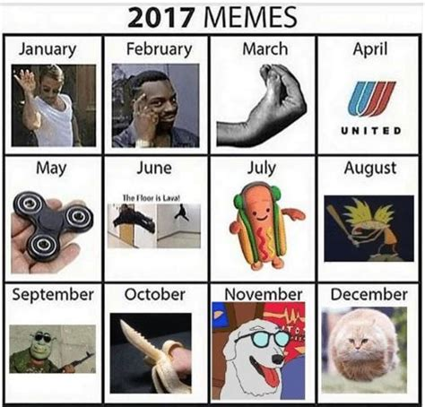 Meme Calendar - went to the future and finished the normie meme calendar