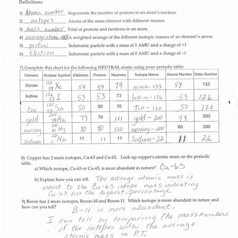 Electron Configuration Worksheet 2 Answers by Atomic Structure Worksheet Answer Key Worksheet Resume
