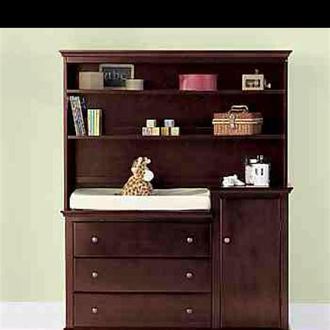 Changing Table Dresser Hutch Jcp Changing Table And Hutch Monkey