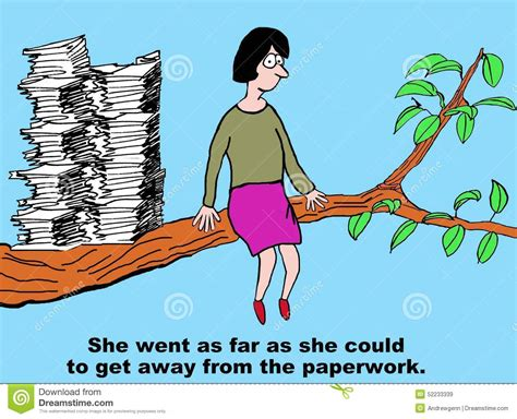 Time Gets Away And The In A New Series Of Tips by Get Away From Paperwork Stock Illustration Image Of Read