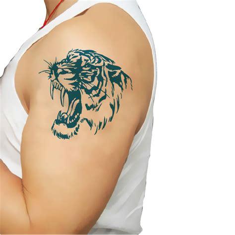 ts 118 2015 elastic fake temporary tattoo sleeve germany tiger tattoo arm reviews online shopping tiger tattoo