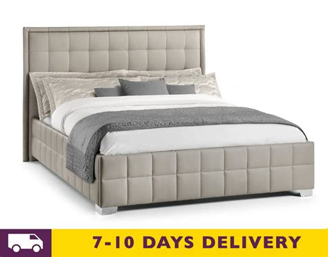 Grey King Size Bed With Mattress Julian Bowen Knightsbridge 5ft King Size Faux Leather Grey Bed
