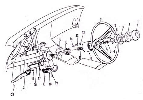 horn parts diagram 1977 corvette diagram tilt telescopic horn autos post