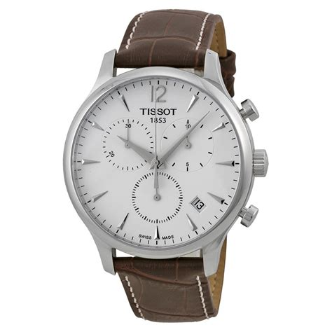 watches for men tissot t classic tradition chronograph silver dial men s