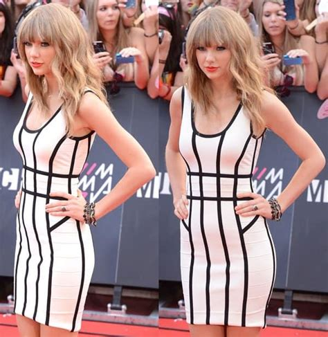 taylor swift herve leger dress muchmusic video awards taylor swift wears herve leger