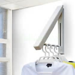 Wall Coat Rack Ikea coat fold away hanger wall mounted clothes hanging rail