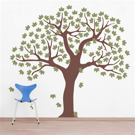 large maple leaf tree wall decal decals