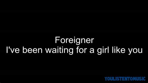 film foreigner waiting for a girl like you foreigner i ve been waiting for a girl like you hd youtube
