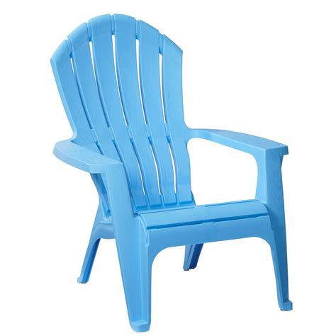 realcomfort periwinkle plastic outdoor adirondack chair     home depot