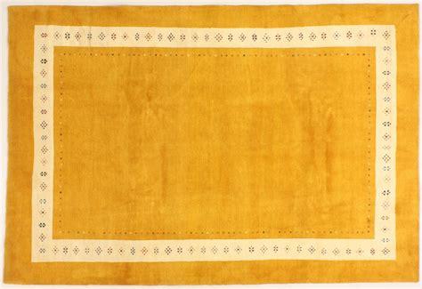 teppich gelb collection rissbaft gelb 99709 orient teppich