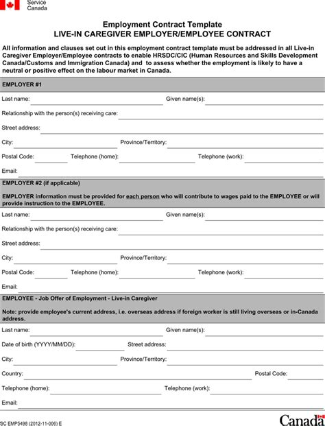 download employment contract template2 for free tidyform
