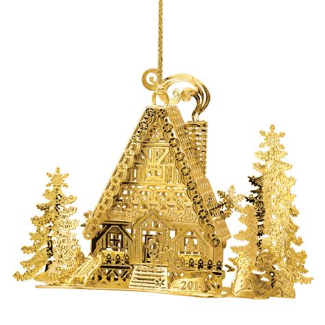 2014 gold christmas ornament collection the danbury mint
