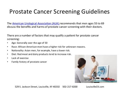 prostate screening guidelines louisville cyberknife early detection of prostate cancer