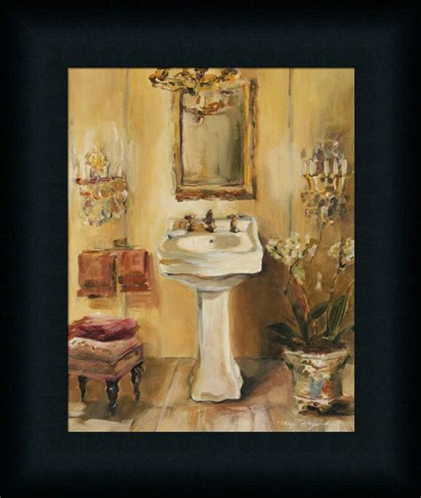 Bathroom Framed Prints Bath Iii Marilyn Hageman Bathroom Spa Framed Print Wall D 233 Cor Picture Ebay