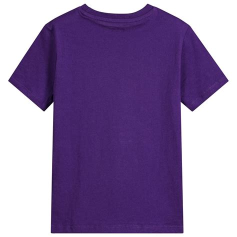 Discon Tshirt Pusple guess boys purple logo t shirt childrensalon