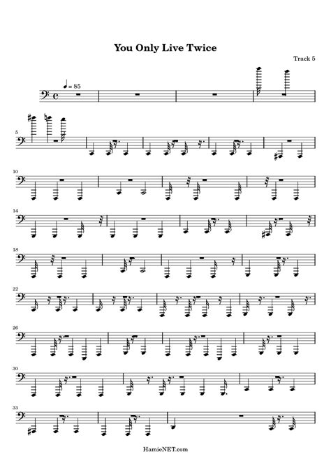 theme music you only live twice you only live twice sheet music you only live twice