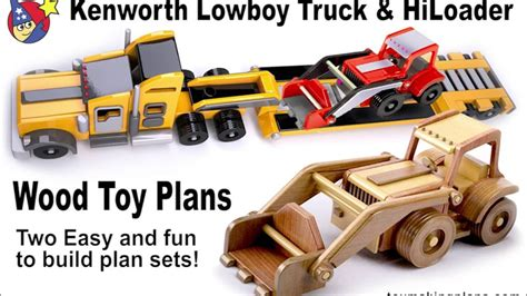 wooden kenworth truck wood plans kenworth lowboy truck and hiloader