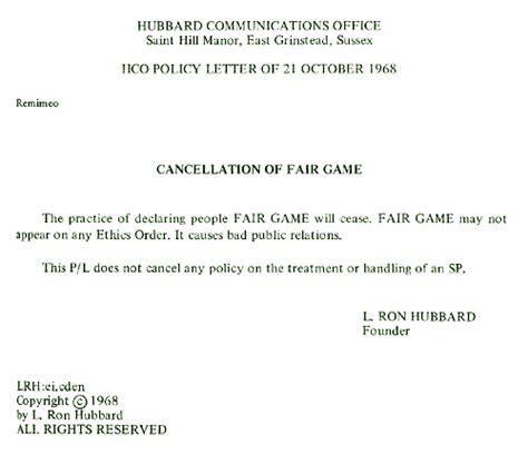 Cancellation Course Letter Suppressief Persoon Verklaringen Door Scientology